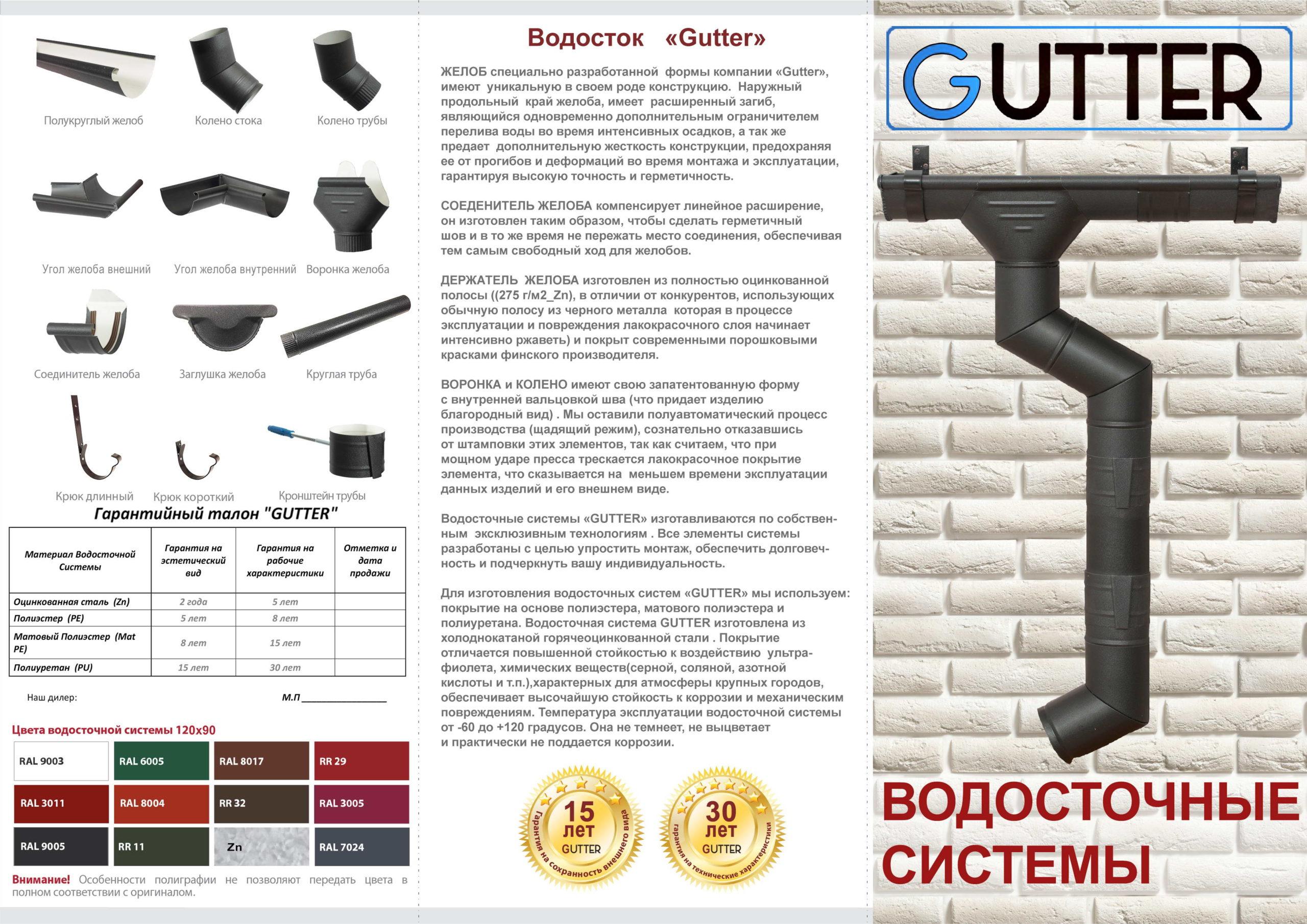 Водосточные системы Gutter